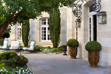 Facade of a luxury French mansion Foto de archivo