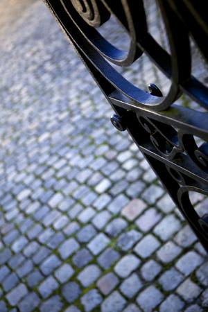 puertas de hierro: Detalle de una puerta de hierro forjado