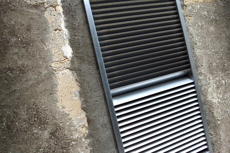 aeration: Air vent aeration on a wall