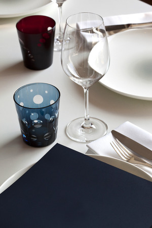 table set: Table set up in a luxury restaurant