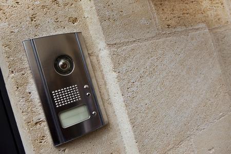 Intercom on a stone facade