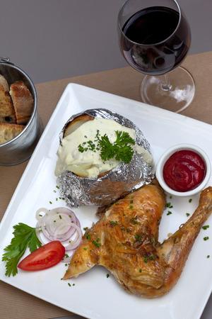 potatoe: Chicker, potatoe and cream