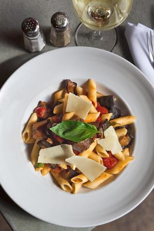 Parmesan: Pasta, eggplant and parmesan