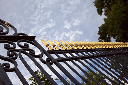 Wrought iron gate of a park
