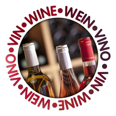 Wine label Stock Photo
