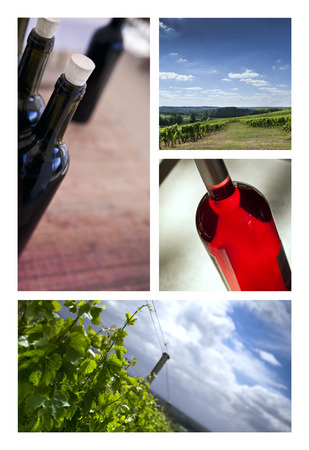 saint emilion: Wine collage