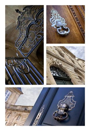 Deur collage Stockfoto