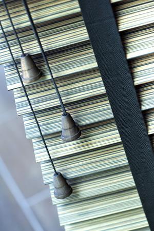 Focus on Venetian blinds inside house