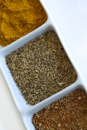 gastronomic: Spice and herbs in a dish