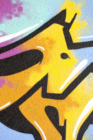 Detail of a graffiti on a concrete wall