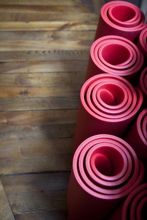 floor mats: Floor mats in a gym