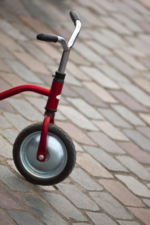 cobbled: Tricycle on a cobbled square