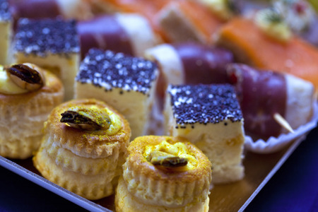 morsel: Canape and morsel on a buffet