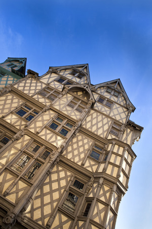 half timbered house: Half timbered house in Angers, France Stock Photo