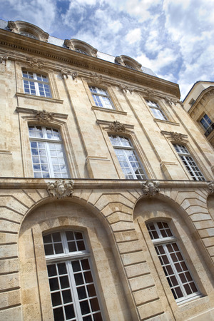 stoned: Stylish stoned house in Bordeaux, France Stock Photo