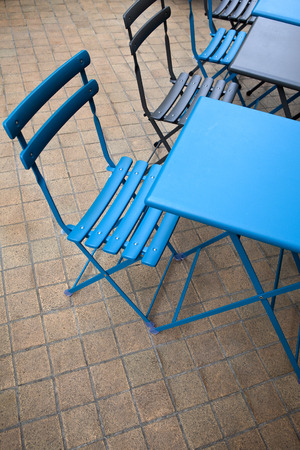 bistro: Tables and seats on the terrace of a bistro