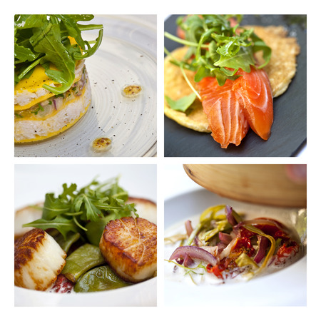 sea food: Sea food dishes on a collage