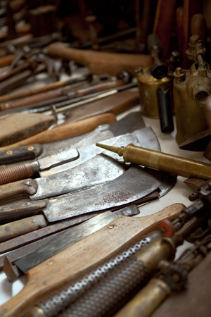 flea market: Old tools in a flea market