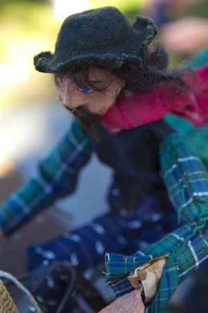 marionette: Focus on a marionette made of old cloth Stock Photo