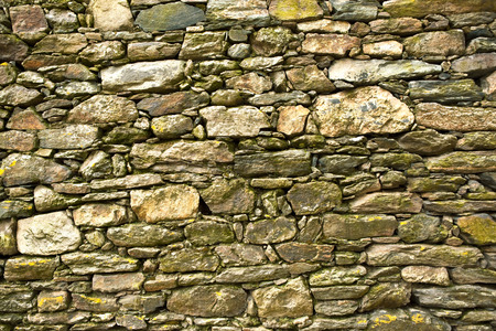 stoned: Old stoned wall in a French village