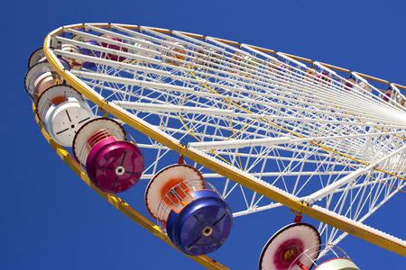 big wheel: Close up of a big wheel in a fairground