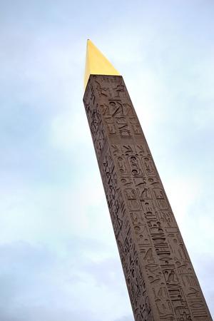 concorde: Obelisk on Place de la Concorde, Paris Stock Photo