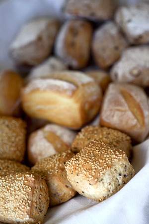 french bakery: Small bread and poppy in a French bakery Stock Photo