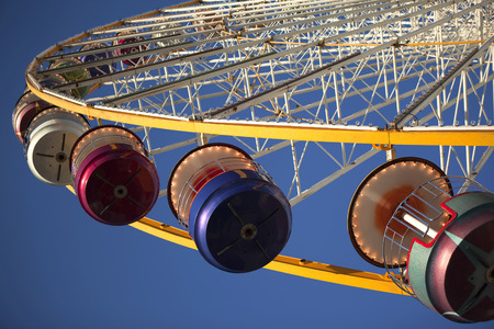 View of a big wheel in a fairground