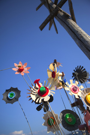 plastic made: Plastic weathervanes made with various recycled materials