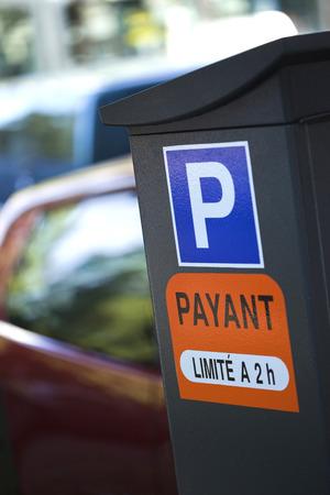 carpark: Entrance to a car-park in France