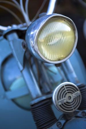 moped: Old rusty moped in a flea market Stock Photo
