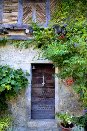patrimony: Facade of an old house in South-West of France Stock Photo