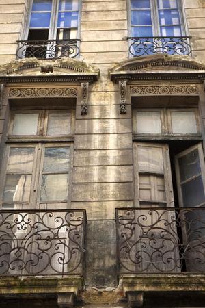 krottenwijk: Facade of an old slum in Bordeaux, France