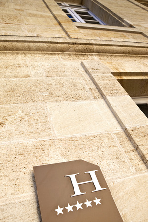 five stars: Facade of a luxurious five stars hotel Stock Photo