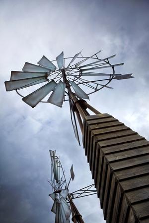 gold mine: Vintage wind turbine in an old gold mine