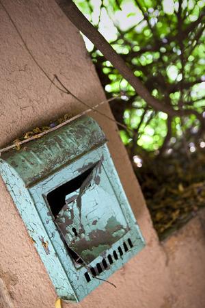 letter box: Letter box of a slum in a village