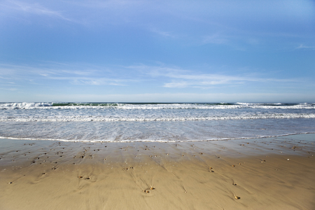 southwest: Small waves of Atlantic ocean in South-West of France