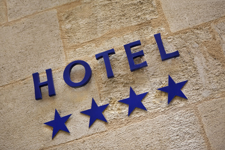 stoned: Stoned facade of a four stars hotel