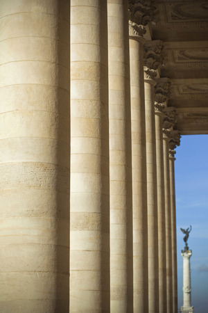 stoned: Stoned column of the porch of Bordeaux opera in France