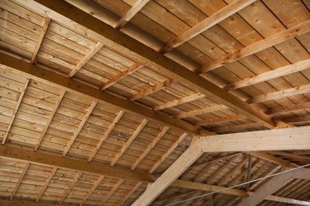 wooden  ceiling: Frame of a wooden ceiling in a French farm