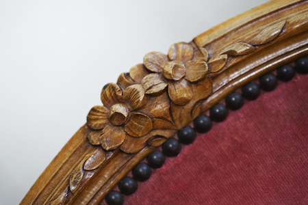 Detail of a wooden chair back 版權商用圖片