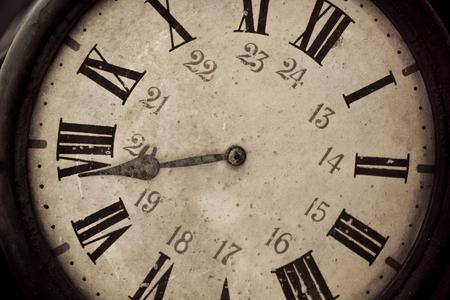 Close up of old retro clock
