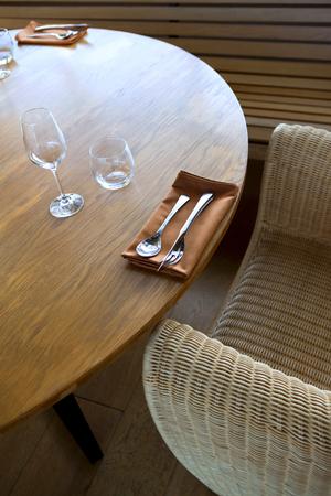 Stylish table set inside a French restaurant