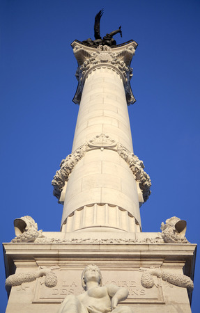 Column of a stoned monument in Bordeaux France
