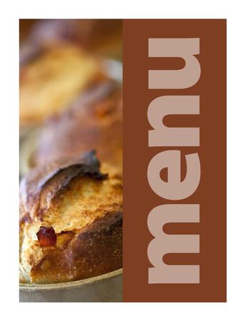 Rustic bread on a model for a restaurant menu