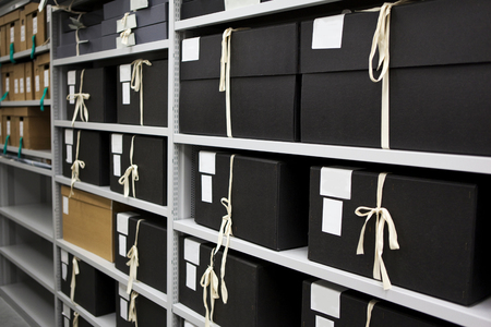 Archives and storage in a closet
