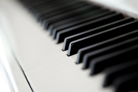 Close up of a grand piano in a music room 写真素材