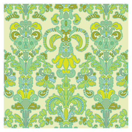 Background of baroque patterns on a wallpaper  Banque d'images - 122016336