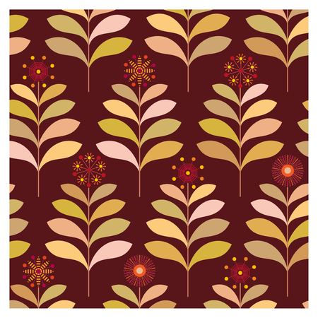 Background of leaves and flowers on a wallpaper Banque d'images - 122016152