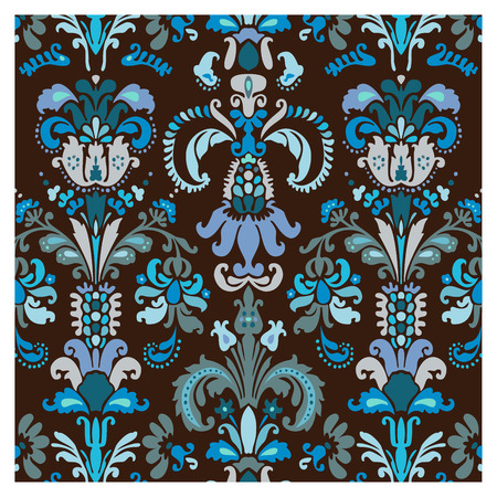 Background of baroque patterns on a wallpaper  Banque d'images - 122016090